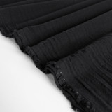 4.5oz Sandwashed Cotton - Black | Blackbird Fabrics