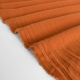 4.5oz Sandwashed Cotton - Rust | Blackbird Fabrics