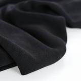 Textured Tencel Viscose - Black | Blackbird fabrics