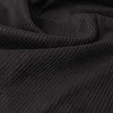 Stretch Cotton Corduroy - Charcoal | Blackbird Fabrics