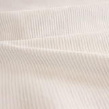 Stretch Cotton Corduroy - Alabaster | Blackbird Fabrics