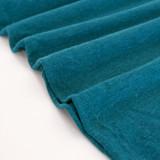 Hemp & Organic Cotton Jersey - Teal | Blackbird Fabrics
