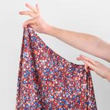Ditsy Floral Printed Viscose Poplin - Crimson/Blue | Blackbird Fabrics