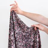 Ditsy Floral Printed Viscose Poplin - Black/Powder Pink   Blackbird Fabrics