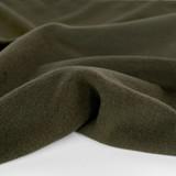 Deadstock Felted Wool Blend Coating - Deep Olive   Blackbird Fabrics