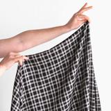 Lightweight Plaid Rayon - Black   Blackbird Fabrics