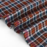Lightweight Plaid Rayon - Rust | Blackbird Fabrics