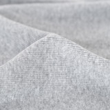 100% Organic Cotton Sweatshirt Fleece - Heather Grey   Blackbird Fabrics