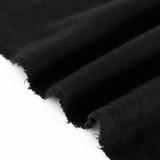 100% Organic Cotton Sweatshirt Fleece - Black | Blackbird Fabrics