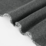 100% Organic Cotton Sweatshirt Fleece - Heather Charcoal   Blackbird Fabrics