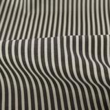 Striped Japanese Cotton Lawn - Charcoal | Blackbird Fabrics