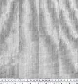 Japanese Tencel Cotton Mini Stripe - Grey/White | Blackbird Fabrics