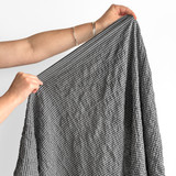 Japanese Tencel Cotton Mini Check - Black   Blackbird Fabrics