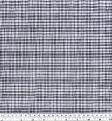 Japanese Tencel Cotton Mini Check - Navy | Blackbird Fabrics