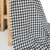 Gingham Japanese Cotton Voile - Black | Blackbird Fabrics