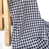 Gingham Japanese Cotton Voile - Navy | Blackbird Fabrics
