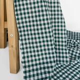 Gingham Japanese Cotton Voile - Peacock | Blackbird Fabrics