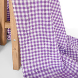 Gingham Japanese Cotton Voile - Violet - 1/2 meter