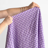 Gingham Japanese Cotton Voile - Violet | Blackbird Fabrics
