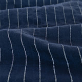 Pinstriped Japanese Cotton Voile - Navy/White   Blackbird Fabrics
