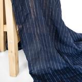 Pinstriped Japanese Cotton Voile - Navy/White | Blackbird Fabrics