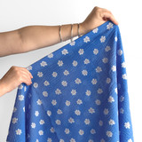 Bloom Print Japanese Crinkle Cotton - Sky Blue | Blackbird Fabrics