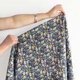 Secret Garden Japanese Crinkle Cotton - Navy | Blackbird Fabrics