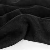 100% Boiled Wool Coating - Black | Blackbird Fabrics
