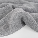 100% Boiled Wool Coating - Heather Grey | Blackbird Fabrics
