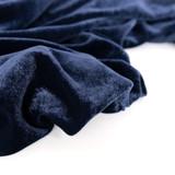 Rayon Velvet - Navy | Blackbird Fabrics