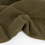 Organic Cotton Double Gauze - Olive | Blackbird Fabrics