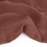 Organic Cotton Double Gauze - Baked Clay | Blackbird Fabrics