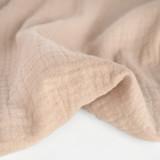 Organic Cotton Double Gauze - Milky Tea | Blackbird Fabrics