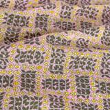 Rose Check Printed Cotton Poplin - Pink/Yellow | Blackbird Fabrics