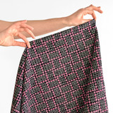 Rose Check Printed Cotton Poplin - Black/Pink | Blackbird Fabrics