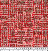 Rose Check Printed Cotton Poplin - Red | Blackbird Fabrics