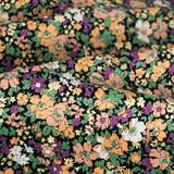 Garden Bloom Printed Cotton Poplin - Black/Multi | Blackbird Fabrics