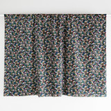 Fern Floral Printed Cotton Poplin - Navy/Pine | Blackbird Fabrics