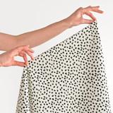 Mod Floral Printed Cotton Poplin - Ivory | Blackbird Fabrics