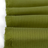 Medium Weight Bamboo Rib Knit - Pickle | Blackbird Fabrics