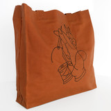 Embroidered Deadstock Waxed Canvas Tote Bag - HAND SEW | Blackbird Fabrics