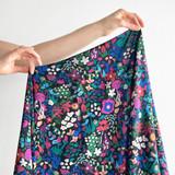 Blush Blooms Viscose Challis - Multi   Blackbird Fabrics