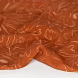 Sneaky Cat Printed Ecovero Challis - Rust/Peach | Blackbird Fabrics