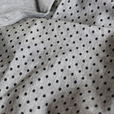 Bamboo Polka Dot Knit - Heather Grey/Black - 1/2 meter