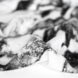 Marble Printed Viscose Poplin - Black/White   Blackbird Fabrics