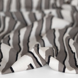 Abstract Animal Printed Ecovero Twill - Grey/Ivory | Blackbird Fabrics