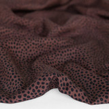 Dotty Printed Tencel Twill - Deep Mauve | Blackbird Fabrics