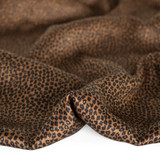 Mini Cheetah Printed Ecovero Satin - Warm Brown | Blackbird Fabrics