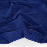 Heathered Athletic Knit - Royal Blue | Blackbird Fabrics