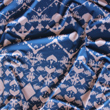 Aztec Print ITY Knit - Blue/Dusty Pink | Blackbird Fabrics